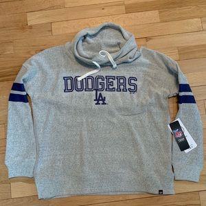 Sweaters - LA Dodgers Cowl Neck Fleece NWT Small
